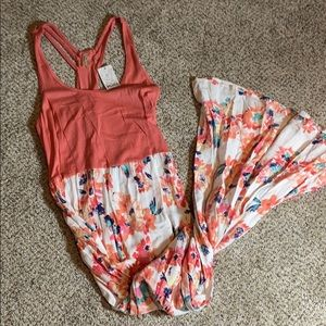NWT Maxi Coral Floral Dress Large